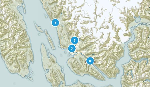 Juneau, Alaska Trail Running Map