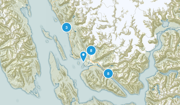 Juneau, Alaska Trail Running Map