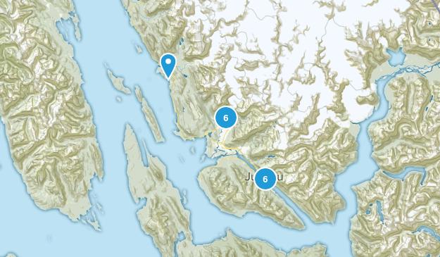 Juneau, Alaska Waterfall Map
