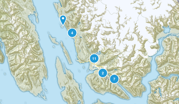Juneau, Alaska Wildlife Map