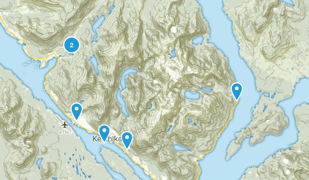 Ketchikan, Alaska Hiking Map