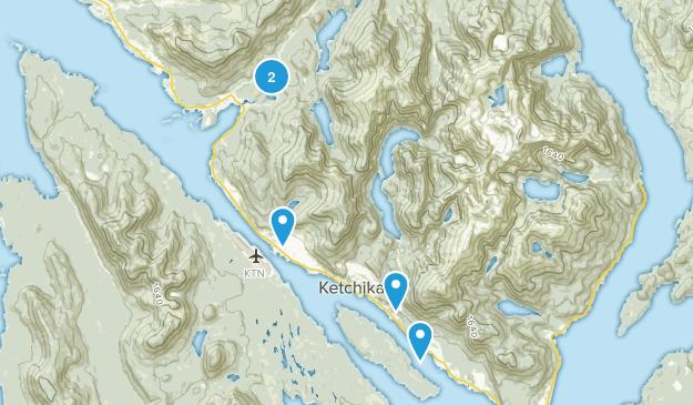 Ketchikan, Alaska Lake Map
