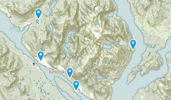 Ketchikan, Alaska Nature Trips Map