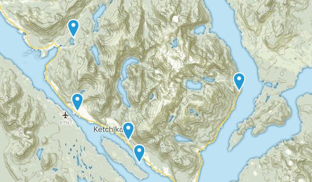 Ketchikan, Alaska Walking Map