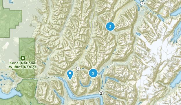 Moose Pass, Alaska Hiking Map