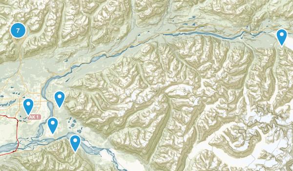 Palmer, Alaska Hiking Map