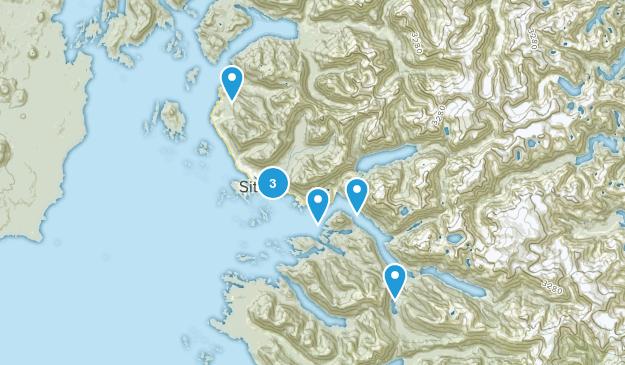 Sitka, Alaska Dogs On Leash Map