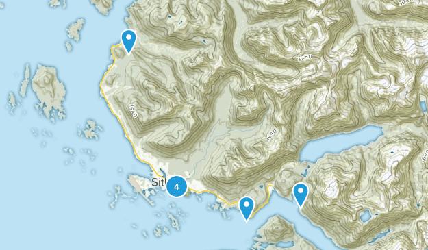 Sitka, Alaska Nature Trips Map