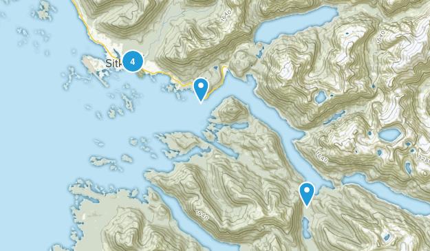 Sitka, Alaska Trail Running Map