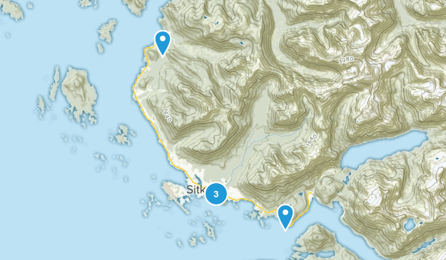 Sitka, Alaska Wild Flowers Map