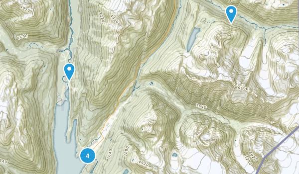 Skagway, Alaska Hiking Map