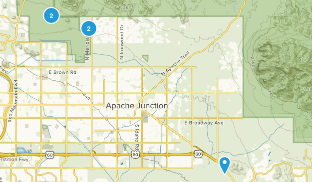 Apache Junction, Arizona Horseback Riding Map