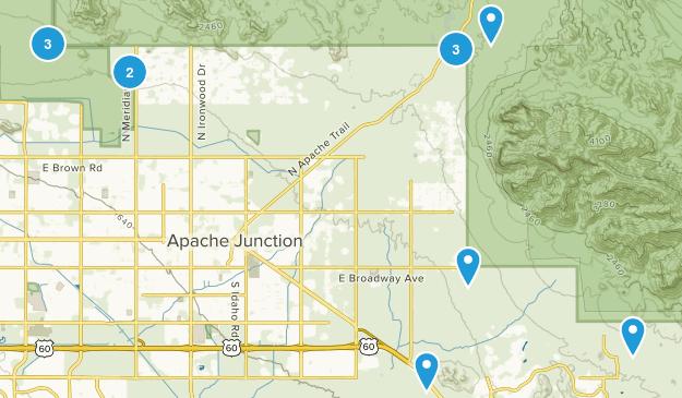 Apache Junction, Arizona Kid Friendly Map