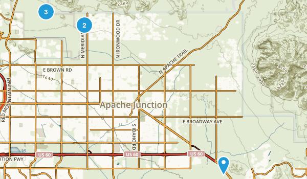 Apache Junction, Arizona Mountain Biking Map