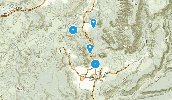 Big Park, Arizona Hiking Map