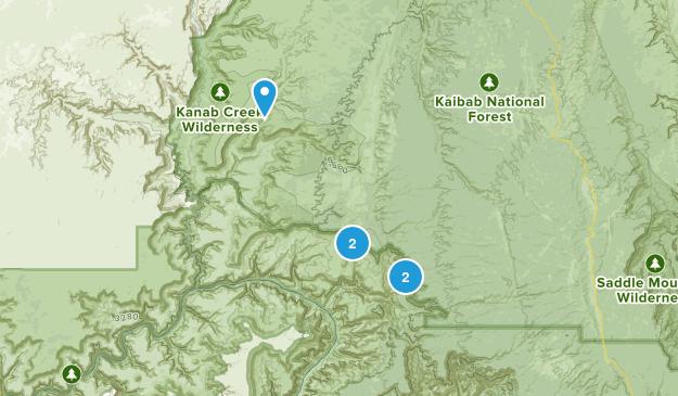 Big Springs, Arizona Hiking Map