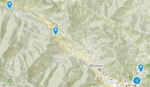 Bisbee, Arizona Hiking Map