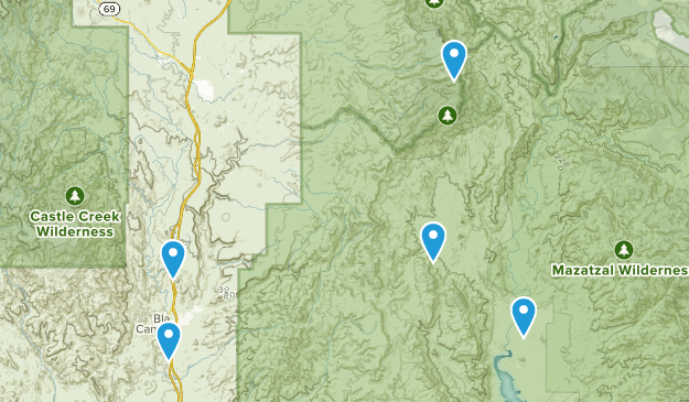 Black Canyon City, Arizona Dogs On Leash Map