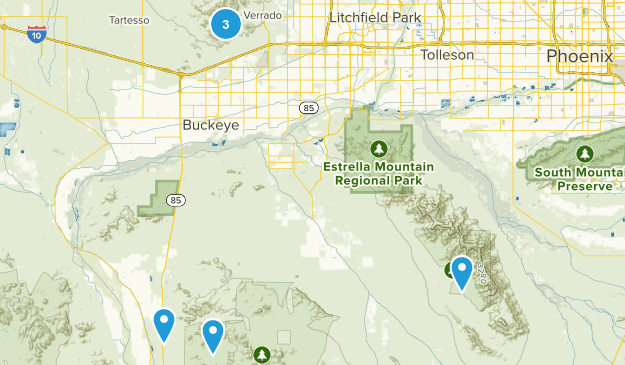 Buckeye, Arizona Dogs On Leash Map