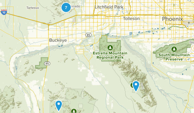 Buckeye, Arizona Hiking Map
