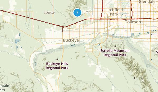 Buckeye, Arizona Trail Running Map