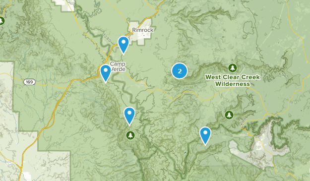 Camp Verde, Arizona Hiking Map