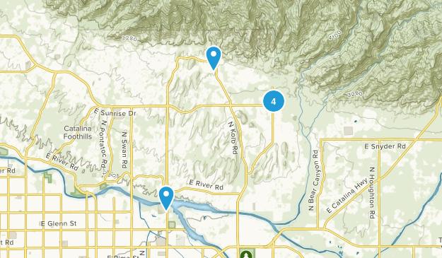 Catalina Foothills, Arizona Walking Map
