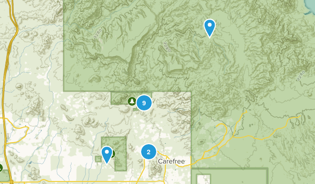Cave Creek, Arizona Birding Map