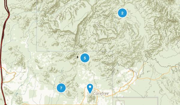 Cave Creek, Arizona Dogs On Leash Map
