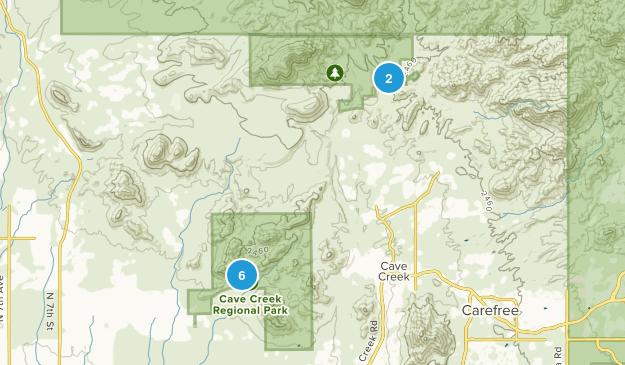 Cave Creek, Arizona Horseback Riding Map
