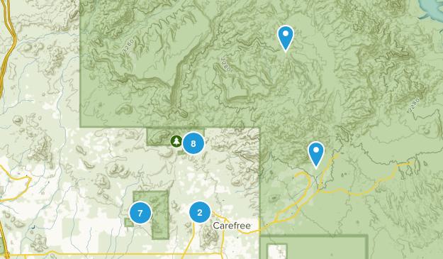 Cave Creek, Arizona Views Map