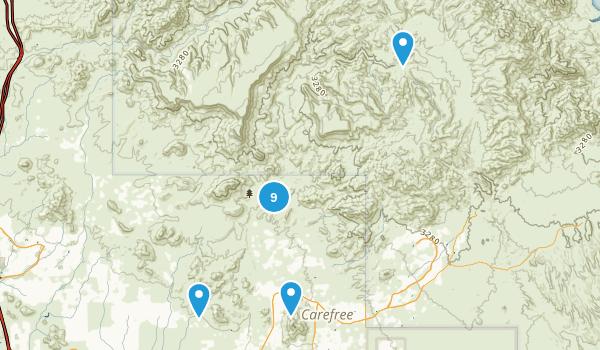 Cave Creek, Arizona Walking Map