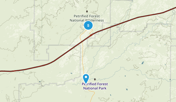 Chambers, Arizona Hiking Map