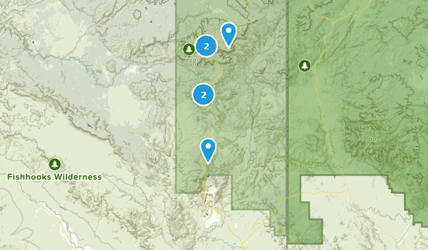 Clifton, Arizona Hiking Map
