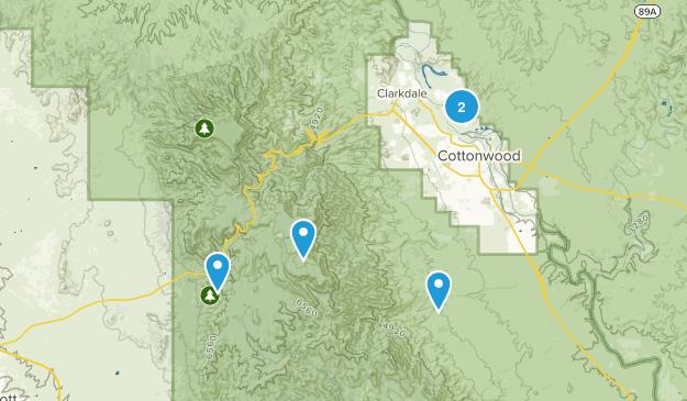 Cottonwood, Arizona Views Map