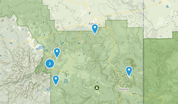 Eagar, Arizona Nature Trips Map