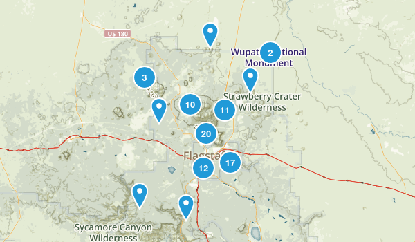 Flagstaff, Arizona Hiking Map