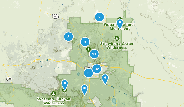 Flagstaff, Arizona Nature Trips Map