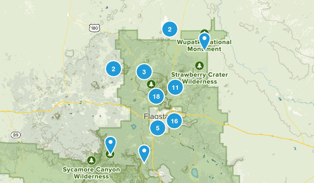 Flagstaff, Arizona Views Map