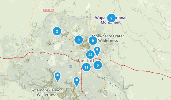 Flagstaff, Arizona Walking Map