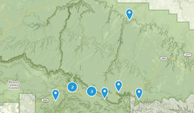 Forest Lakes, Arizona Hiking Map