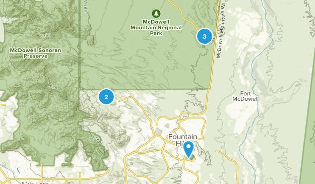Fountain Hills, Arizona Mountain Biking Map