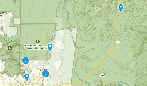 Fountain Hills, Arizona Trail Running Map