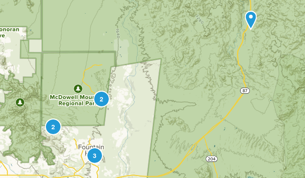 Fountain Hills, Arizona Walking Map
