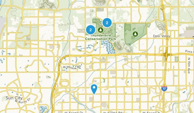 Glendale, Arizona Birding Map