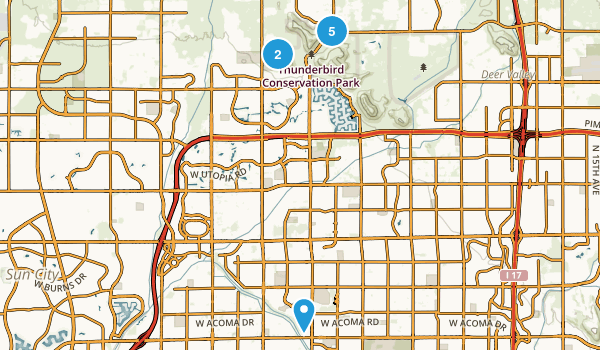 Glendale, Arizona Dogs On Leash Map
