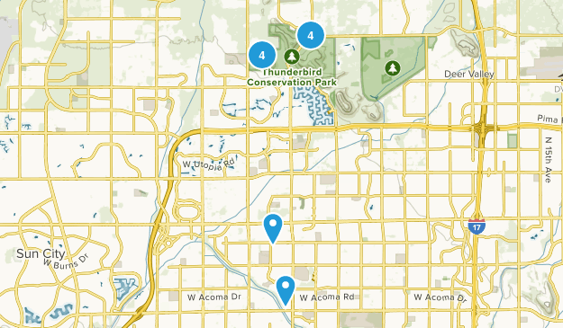Glendale, Arizona Trail Running Map