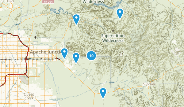 Gold Canyon, Arizona Birding Map