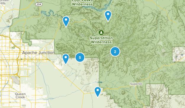 Gold Canyon, Arizona Dogs On Leash Map