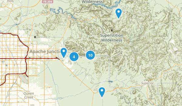 Gold Canyon, Arizona Walking Map